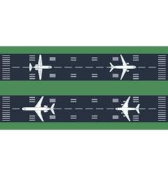 Airplanes at runway vector