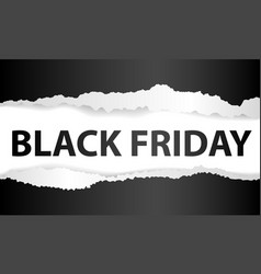 black friday ripped baner vector image