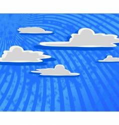 cartoon clouds with blue sky vector image