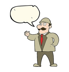 cartoon sensible business man in bowler hat with vector image