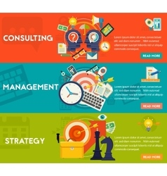 Consulting Management and Strategy Concept vector image