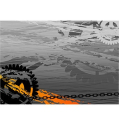 dark industrial background with cogwheel vector image vector image