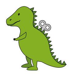 dinosaur rex toy icon vector image