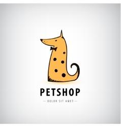 Dog logo pet shop icon veterinary vector
