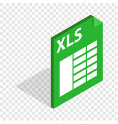 File format xls isometric icon vector