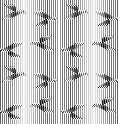 Flat gray with uneven ties on continues stripes vector