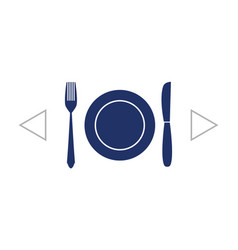 Fork knife dish icon vector