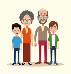 grandparents with grandchild image vector image