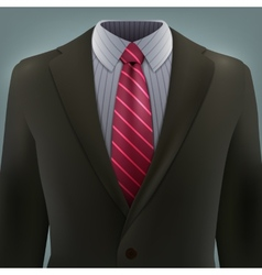 grey business suit with a tie vector image vector image