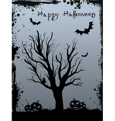 halloween tree background vector image vector image