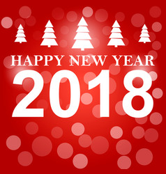 Happy new year 2018 background decoration vector