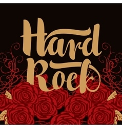 Hard rock inscription vector
