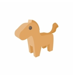 Horse trojan icon in cartoon style vector
