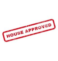 House approved text rubber stamp vector