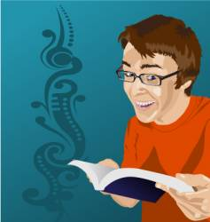 man reading vector image