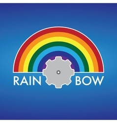Rainbow company logo design vector