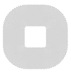 Rounded square shape vector