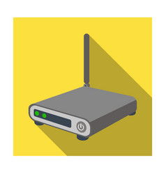 router icon in flat style isolated on white vector image