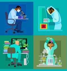 science design concept set vector image vector image