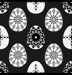 Seamless pattern with decorative eggs esater vector