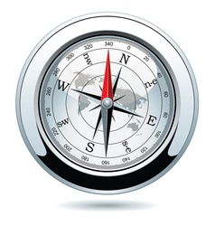 silver compass vector image vector image