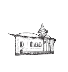 Sketch of Building Hand drawn vector image