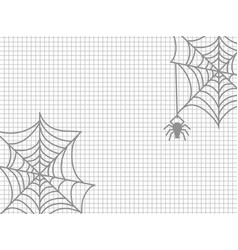 spider and cobweb halloween vector image vector image