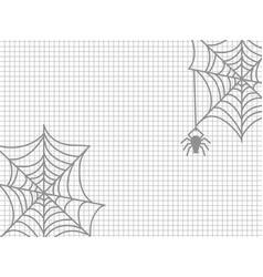 spider and cobweb halloween vector image
