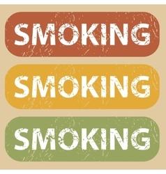 Vintage smoking stamp set vector