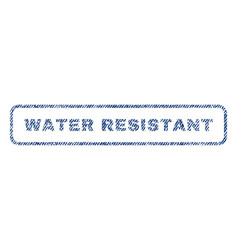 Water resistant textile stamp vector