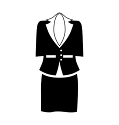 Female office suit icon simple style vector