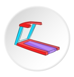 Professional treadmill icon cartoon style vector
