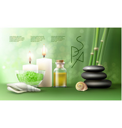 for spa treatments with vector image