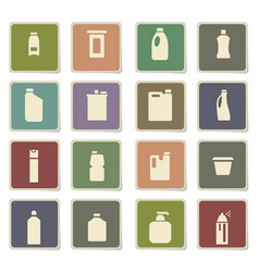 household chemicals icon set vector image