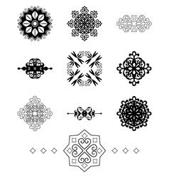 Black decorative elements vector