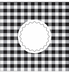Black checkered background vector