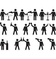 Pictogram people drinking vector