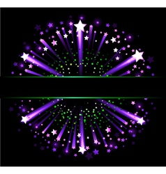 Banner with fireworks vector