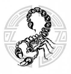 Zodiac wheel with sign scorpio vector