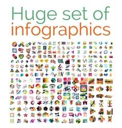 Huge mega set of infographic templates vector image