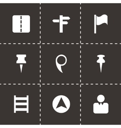 Map pointer icons set vector