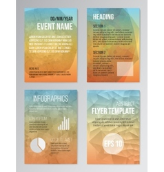 Set of poster brochure design templates vector