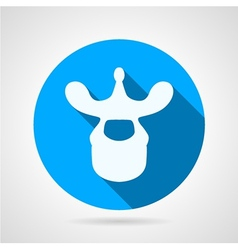 Thoracic vertebra blue icon vector