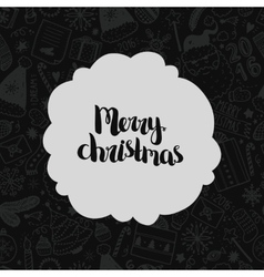Christmas doodle background vector
