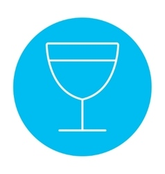Glass of wine line icon vector