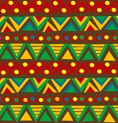 Triangular geometric pattern in ethnic style with vector