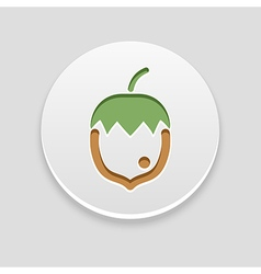 Nut icon fruit vector