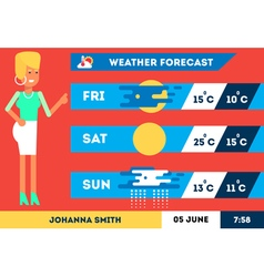 Weather Forecast 2 vector image