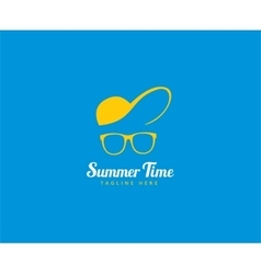Abstract logo elements Vocation summer vector image