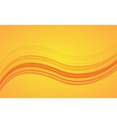 Abstract orange waves - data stream concept vector image